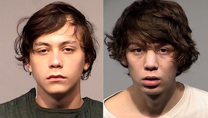 From left, Aaron Lundsford Schmit, 18, of Prescott, Christopher Munsey, 18, of Prescott Valley. (YCSO)