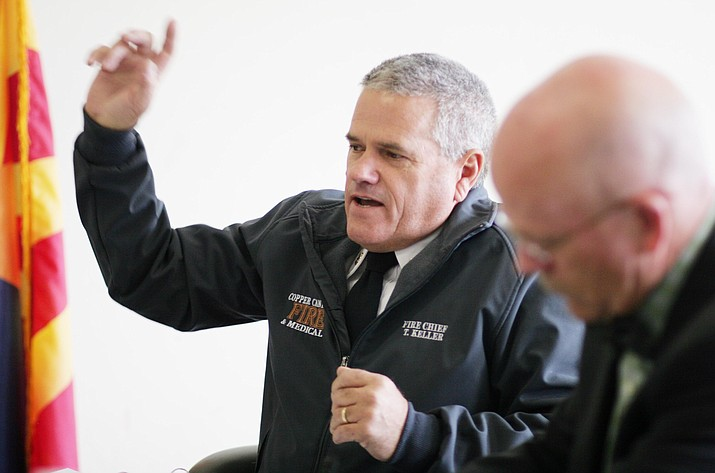 Copper Canyon Fire Chief Terry Keller. VVN/Bill Helm