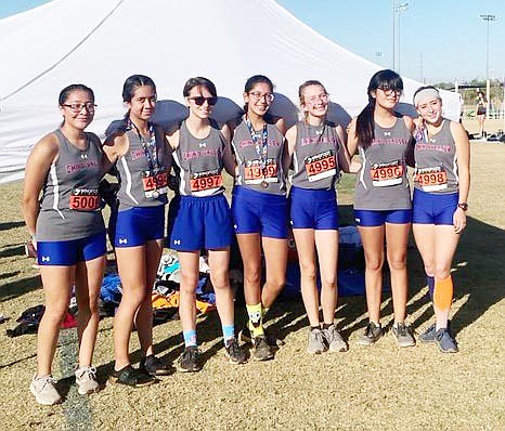The Chino Valley girls cross-country team. (CVUSD, Facebook/Courtesy)