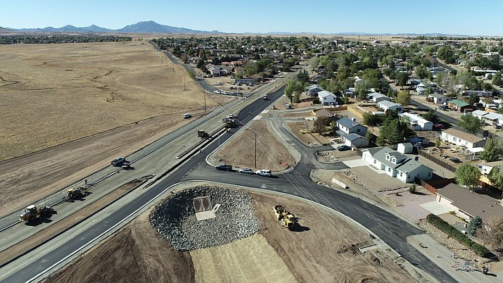 Town of Prescott Valley officials stated on Nov. 9 that they are closer to finishing the town's extensive Viewpoint Drive Connector project, portions of which are shown here. (Courtesy/Town of Prescott Valley)