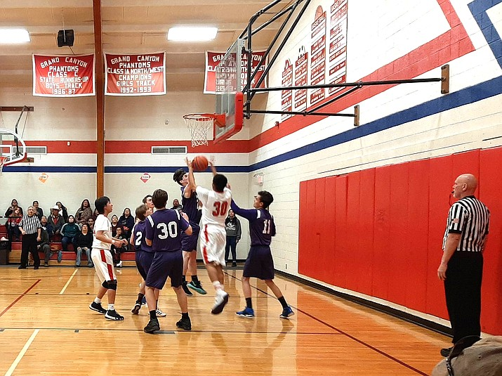 Grand Canyon Phantoms play in a 2019 game at Grand Canyon School. On Nov. 2, Grand Canyon School Governing Board voted to postpone both in-person instruction and athletics until at least Jan. 28, the start of the next semester. (Photo/NPS)