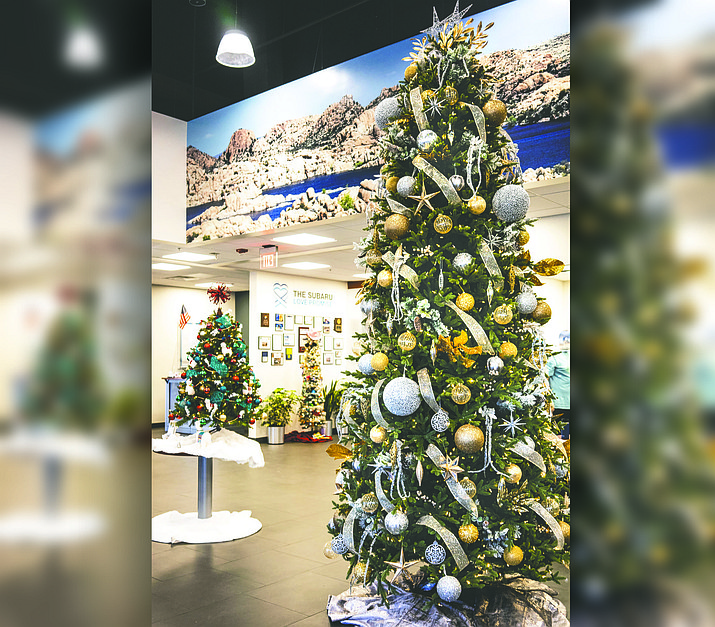 This year, Kind Defined's Festival of Tress is being brought to local businesses. The trees will be in their stores. Visit over 30 trees and businesses, spend your money locally buying unique holiday gifts for family and friends and 'donate to vote' for your favorite tree. See the location list and view or download a 2020 Festival of Trees Guide and Map at kinddefined.org/trees.(Kind Defined/Courtesy)