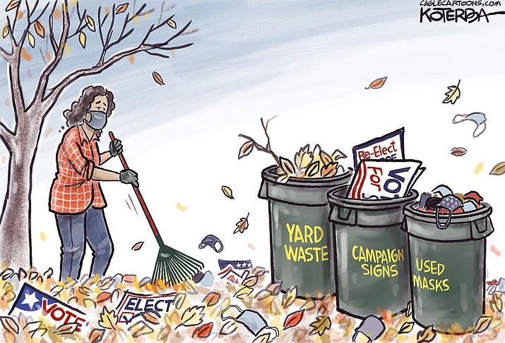 Editorial cartoon (1): Nov. 13, 2020