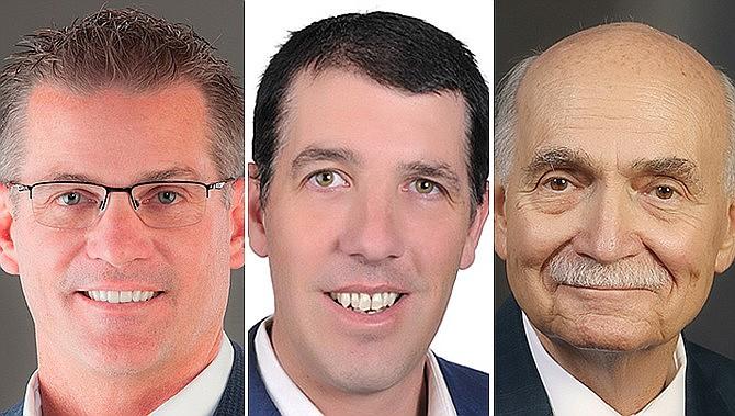 From left, Prescott Mayor Greg Mengarelli, Prescott Valley Mayor Kell Palguta, and Chino Valley Mayor Darryl Croft. (Courier file photos)