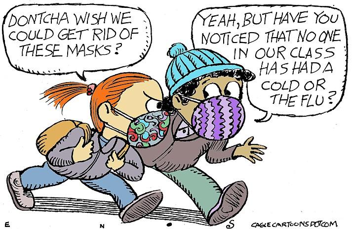 Editorial cartoon (2): Nov. 14, 2020