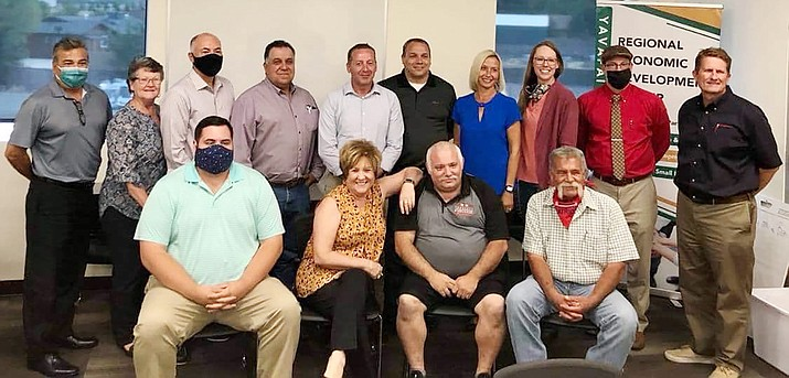 Pictured are staff and volunteers who serve at the Prescott Valley Chamber of Commerce, 7120 Pav Way, Suite 102, in Prescott Valley. (Courtesy)