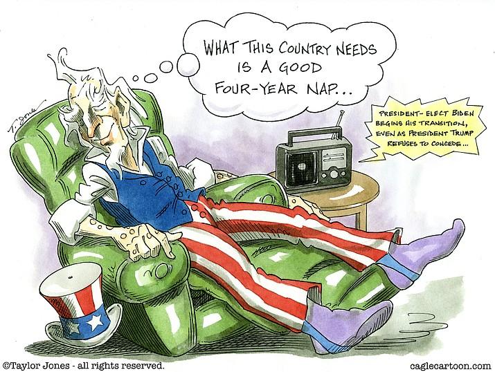Editorial cartoon (2): Nov. 15, 2020