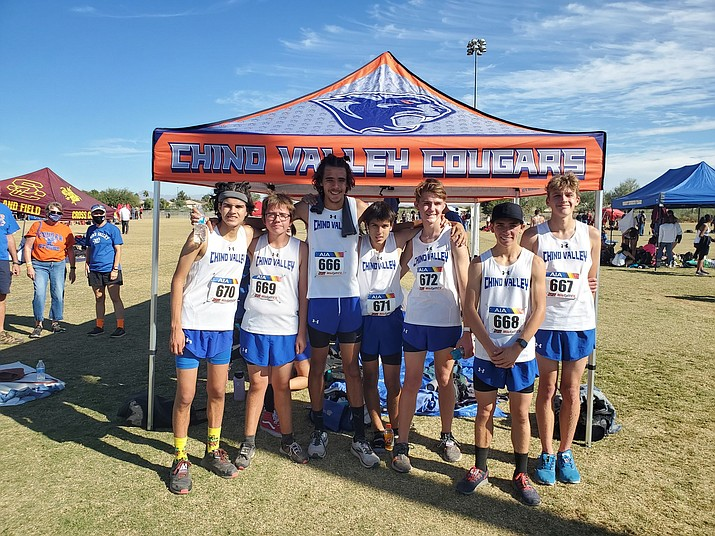 Chino Valley cross-country performed solidly at the Division III State Championships in Gilbert on Thursday, Nov. 12, 2020. The boys team took ninth out of 40 teams. (Marc Metz/Courtesy)