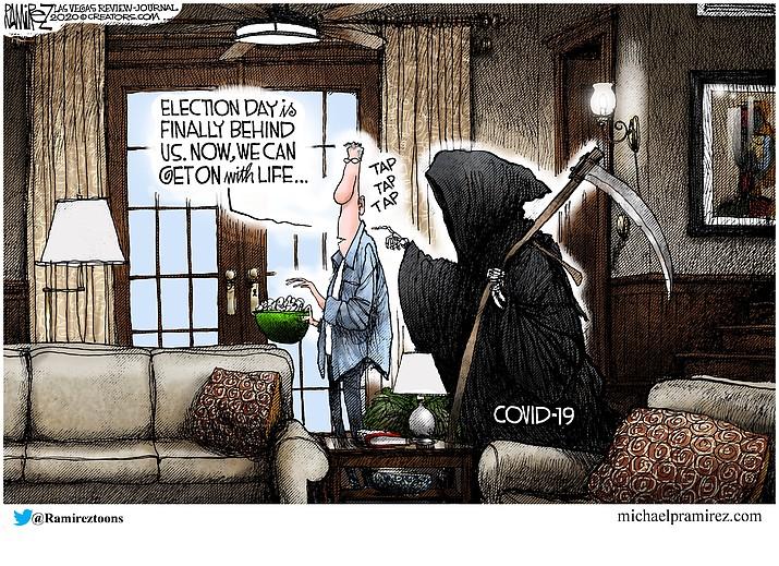 Editorial cartoon (1): Nov. 15, 2020