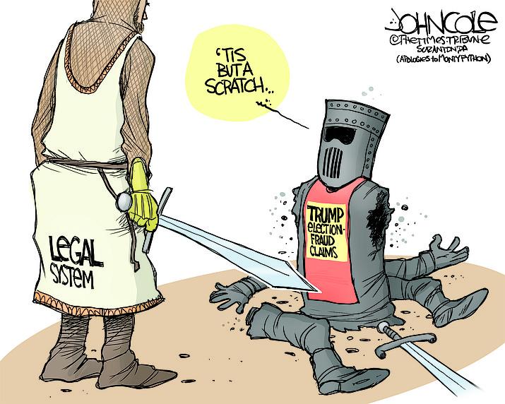 Editorial cartoon (1): Nov. 17, 2020
