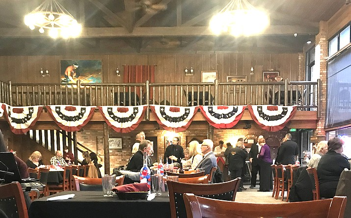In honor of Veteran's Day, a Veterans Ball was held Nov. 7 at Miss Kitty's Steakhouse in Williams. (Submitted photo)