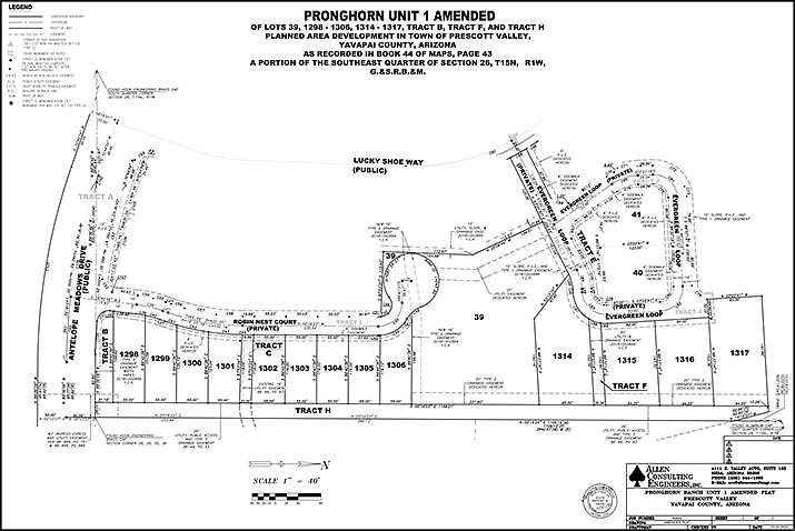The site plan for Unit 1 of the Pronghorn Ranch subdivision in north Prescott Valley. (Town of Prescott Valley)