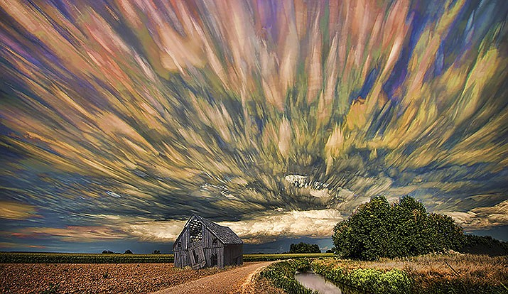 """""""Radiating Sky"""" is one of the works of photographic artist JR Schnelzer will present to the Sedona Camera Club starting at 6 p.m. on Monday, November 30th.  Due to ongoing COVID-19 concerns, Schnelzer's online presentation will be via a Sedona Camera Club webinar. Courtesy image"""