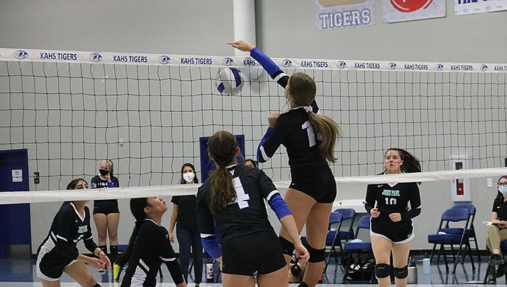 The Kingman Academy High School girls volleyball team lost 3-0 to Phoenix Country Day High School in the state 2A volleyball playoffs. (Miner file photo)