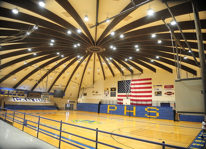 Shown is the Prescott High School gym. The Arizona Interscholastic Association (AIA) announced in a statement released Monday, Nov. 16, that it has made a recommendation to its executive board for consideration of postponing the start of the winter sports season. (Courier file photo)