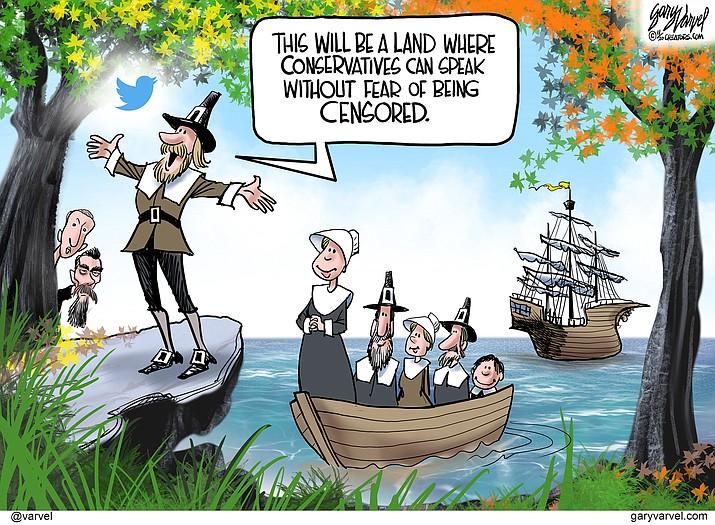 Editorial cartoon (1): Nov. 22, 2020