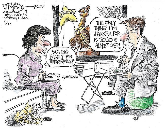 Editorial cartoon (1): Nov. 23, 2020