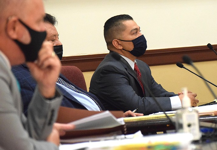 Cecilio Cruz listens to testimony on Nov. 3, 2020, during his murder trial in Prescott. Following a mistrial, the Yavapai County Attorney's office filed a motion Tuesday, Nov. 24, 2020, to dismiss second-degree murder charges in the 1997 death of his pregnant ex-girlfriend in Cottonwood. (Jason Brooks/For the Courier, file)