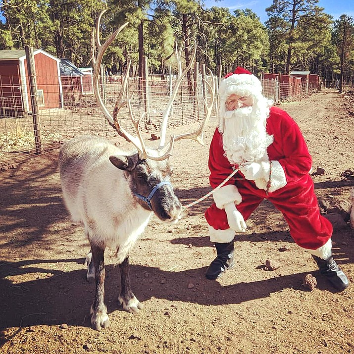 Santa is now visiting with children and families at the Grand Canyon Deer Farm in Williams. (Photo/Grand Canyon Deer Farm)