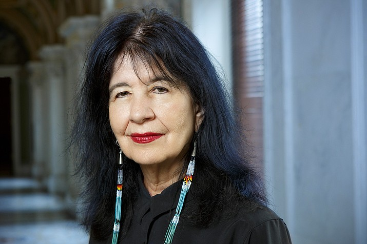 """Joy Harjo continues into a third term as U.S. Poet Laureate as she launches """"Living Nations, Living Worlds,"""" as a signature project during Native American Heritage Month. (Photo courtesy of Shawn Miller, Library of Congress)"""