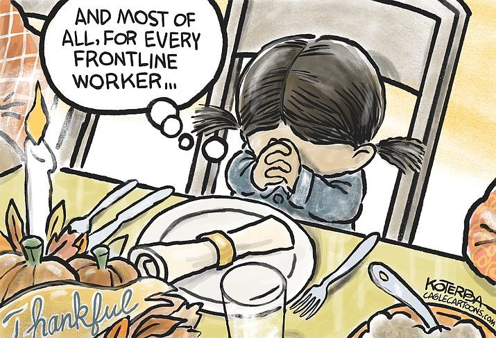 Editorial cartoon (1): Nov. 25, 2020