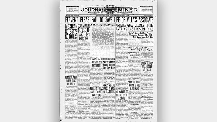 Nov. 27, 1919, Thanksgiving Day edition/Prescott Journal Miner