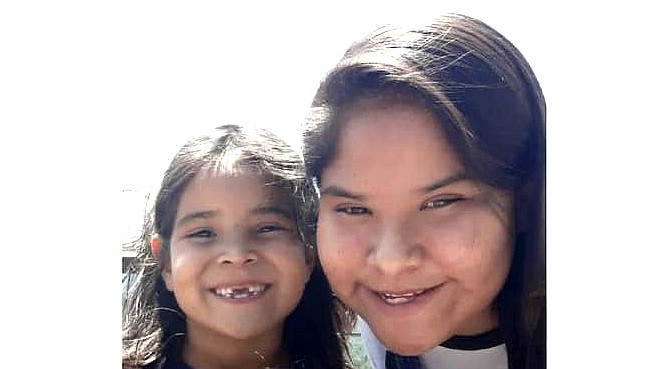 The Navajo Police Department is seeking two missing children, 7-year-old Jayda John and 14-year-old Jaylee Spencer, who were taken from their uncle's home in Fort Defiance, Arizona by his girlfriend, Kristy Marie Pinal. (Photo/Navajo Nation Police Department)