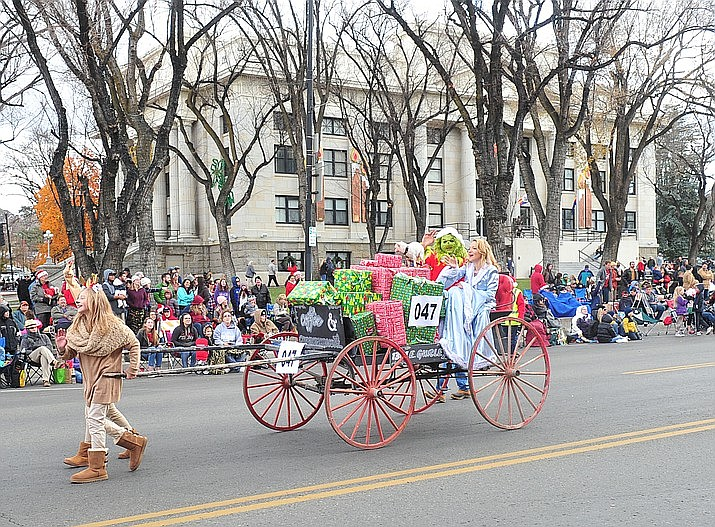 This 2019 file photos shows the Prescott Christmas parade. The City of Prescott has canceled their parades and Acker Night, among other events, due to a rise in COVID-19 numbers across the state and Yavapai County. (Courier file photo)
