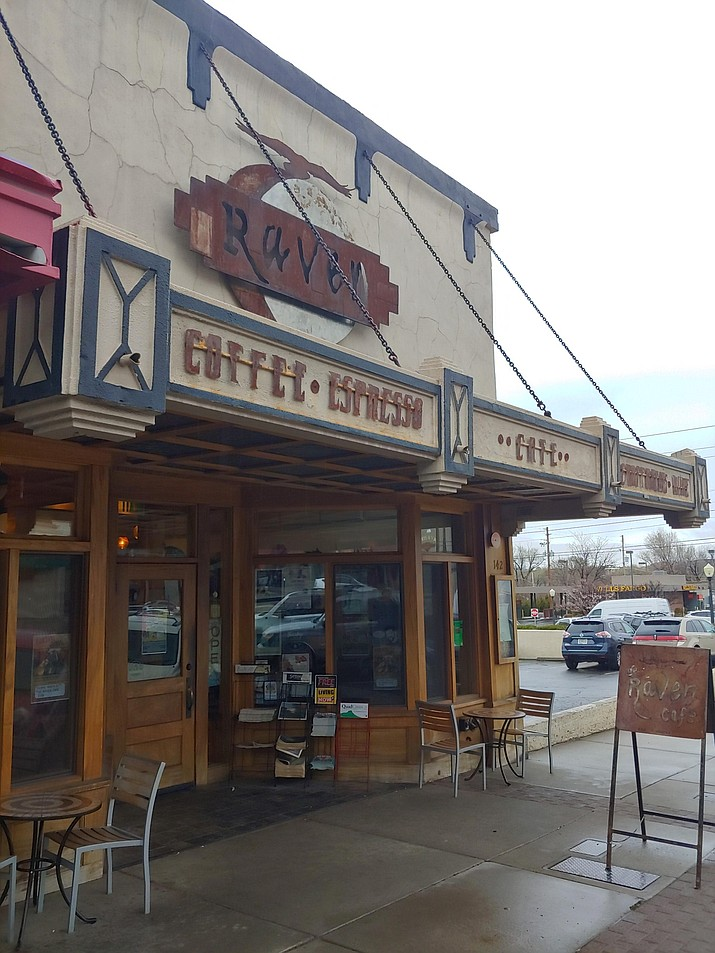 Raven Café, 142 N. Cortez St. in downtown Prescott, announced on Facebook the morning of Nov. 24 that it had reopened after a brief closure the week prior, when an employee tested positive for the coronavirus. (Courier file photo)