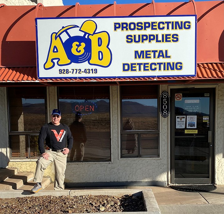 Tim Swenor, manager of A&B Prospecting Supplies' Prescott Valley store, will be moving the store from its current location to its new location at 8101 E. Highway 69, Suite C, on Dec. 2, 2020. (Swenor family/Courtesy)