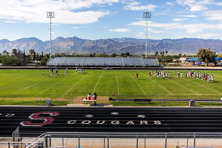 The football stadium at Tucson Sahuaro High School will be empty for the rest of the semester after the superintendent of schools made the decision to suspend the remainder of fall sports. (Photo courtesy Sahuaro High School)