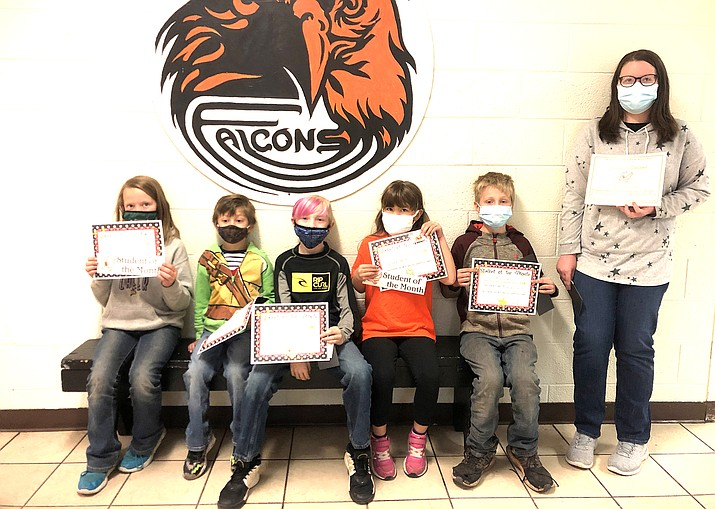 November Students of the Month include Oliver Gutierrez, Megan Fitzgerald, Reese Skinner, Bobby Sanders, Corbin Clark and Jessica Bernard. Not pictured are Damian Caballero and Frankie Harvey. (Photos/Williams Elementary-Middle School)