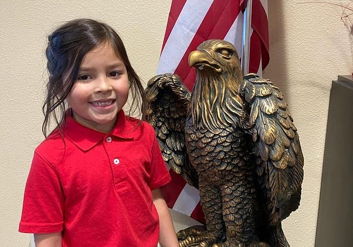 Stella is an awesome 1st grade Eagle at Liberty Traditional who is always going out of her way to help her classmates. (HUSD)