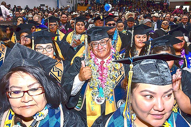 In January, Diné College was ranked No. 5 nationally for offering the largest number of associate degrees to Native Americans. (Photo/Dine College)