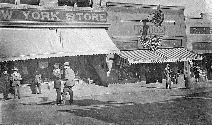Main Street Jerome, 1918. Photo courtesy Jerome Historical Society.
