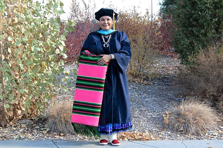Esther Cadman completed her Ph.D. Nov. 22 from Northern Arizona University.  (Photo/NAU News)