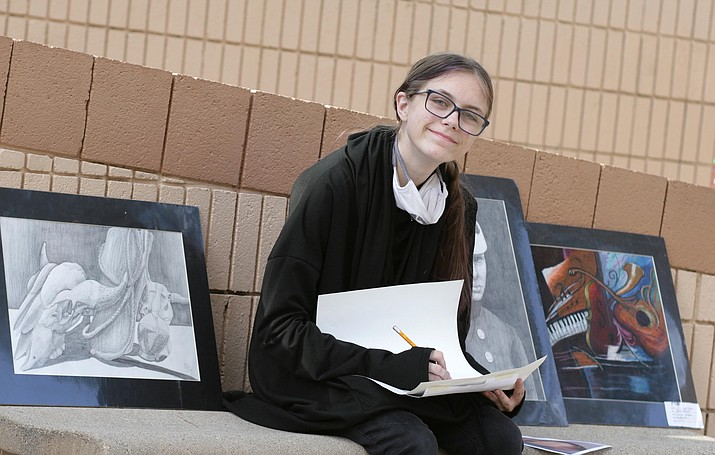 Camp Verde High School junior Corynn Helgeson says art is essential for her career goals to become a video game designer/maker, animator an author. It's also essential to her life. VVN/Bill Helm