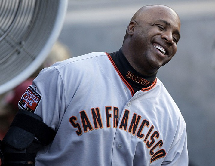 Giants' Barry Bonds passed the legendary Babe Ruth on the all-time home run list on May 28, 2006. (AP file photo)