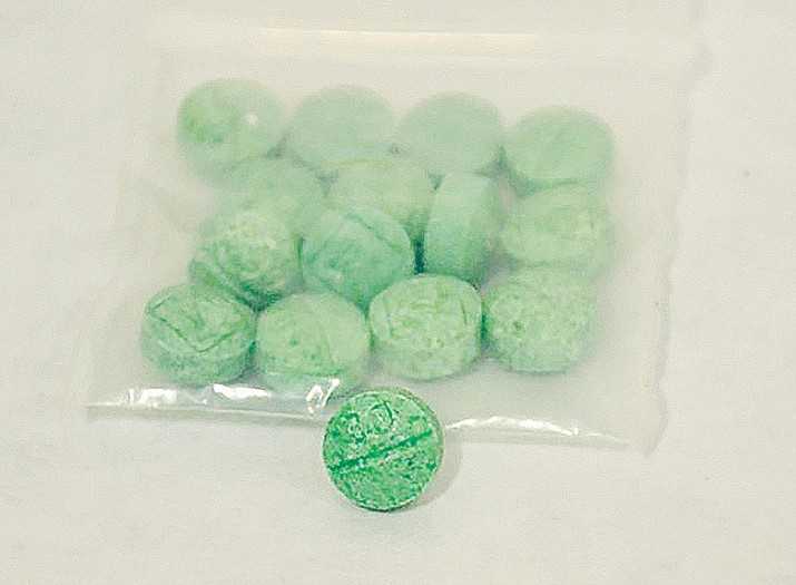 This is what fentanyl pills may look like that a young teenager may have in their possession. MatForce encourages all parents to be aware of their children's movement's on social media. (MatForce/Courtesy)