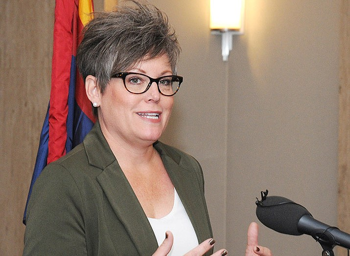 """A lawyer who represents Arizona Secretary of State Katie Hobbs, above,told a judge Monday, Dec. 14 that Arizona law requires anyone filing a lawsuit contesting election results to be a """"qualified elector."""" And that, she said, means they need to be registered to vote. (Courier file photo)"""