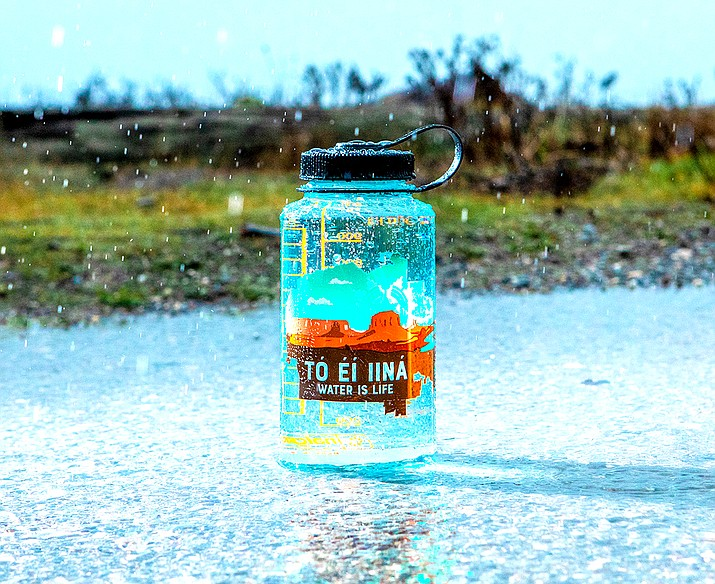 In support of the Navajo Nation, Nalgene has launched a new reusable water bottle featuring the art of designer Jaden Redhair. (Photo courtesy of Nalgene Outdoors)