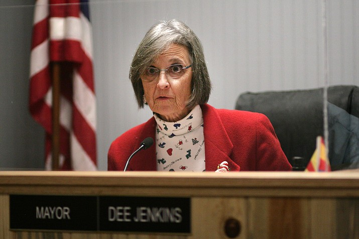 Wednesday, the Camp Verde Town Council voted 7-to-0 to prohibit recreational marijuana sales within town limits. Pictured, Camp Verde Mayor Dee Jenkins. VVN/Bill Helm