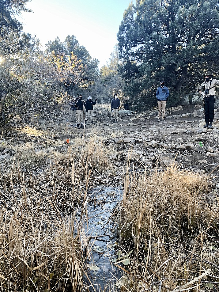 A crew from AmeriCorps' NCCC (National Civilian Community Corps) program has been making improvements to the Community Nature Center in Prescott. (Cindy Barks/Courier)