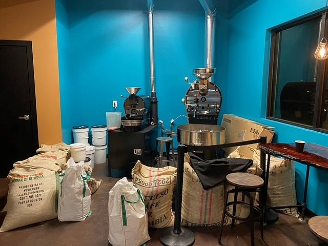 Elevation Coffee roasts coffee onsite at its artisan coffee shop and café at 12075 Highway 69 in Dewey. (Elevation Coffee/Courtesy)