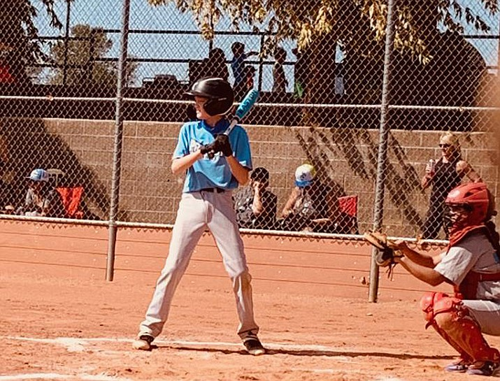 Prescott Rebels 11U pitcher/first baseman Drew Jolley stood out at the dish this fall, hitting runners into scoring position and showing his worth as a team player. (Courtesy photo)