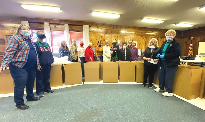 Williams Epsilon Sigma Alpha (ESA) packaged and mailed 30 boxes of treats, supplies and others goodies to be sent to servicemen and women. (Wendy Howell/WGCN)