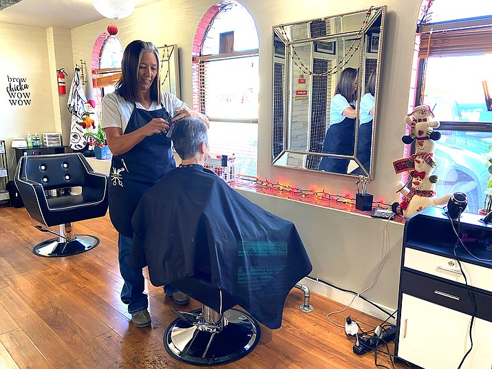 Renee Hatch has moved her hair salon business to Route 66. (Wendy Howell/WGCN)