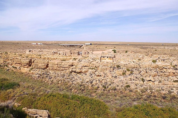 Proposed Cliffside Hotel would be on this canyon edge that contains existing ruins. (Photo/Coconino County Community Development)