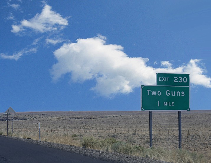 Exit for Two Guns, Arizona off of I-40. (Adobe Stock)