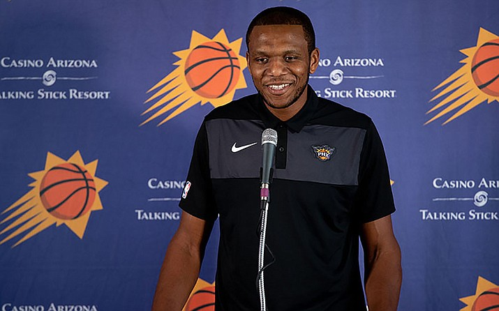 James Jones, the Phoenix Suns' vice president of basketball operations, is excited to watch his new-look team. The Suns open the season Wednesday against the Dallas Mavericks.(Justin Parham/Cronkite News File)